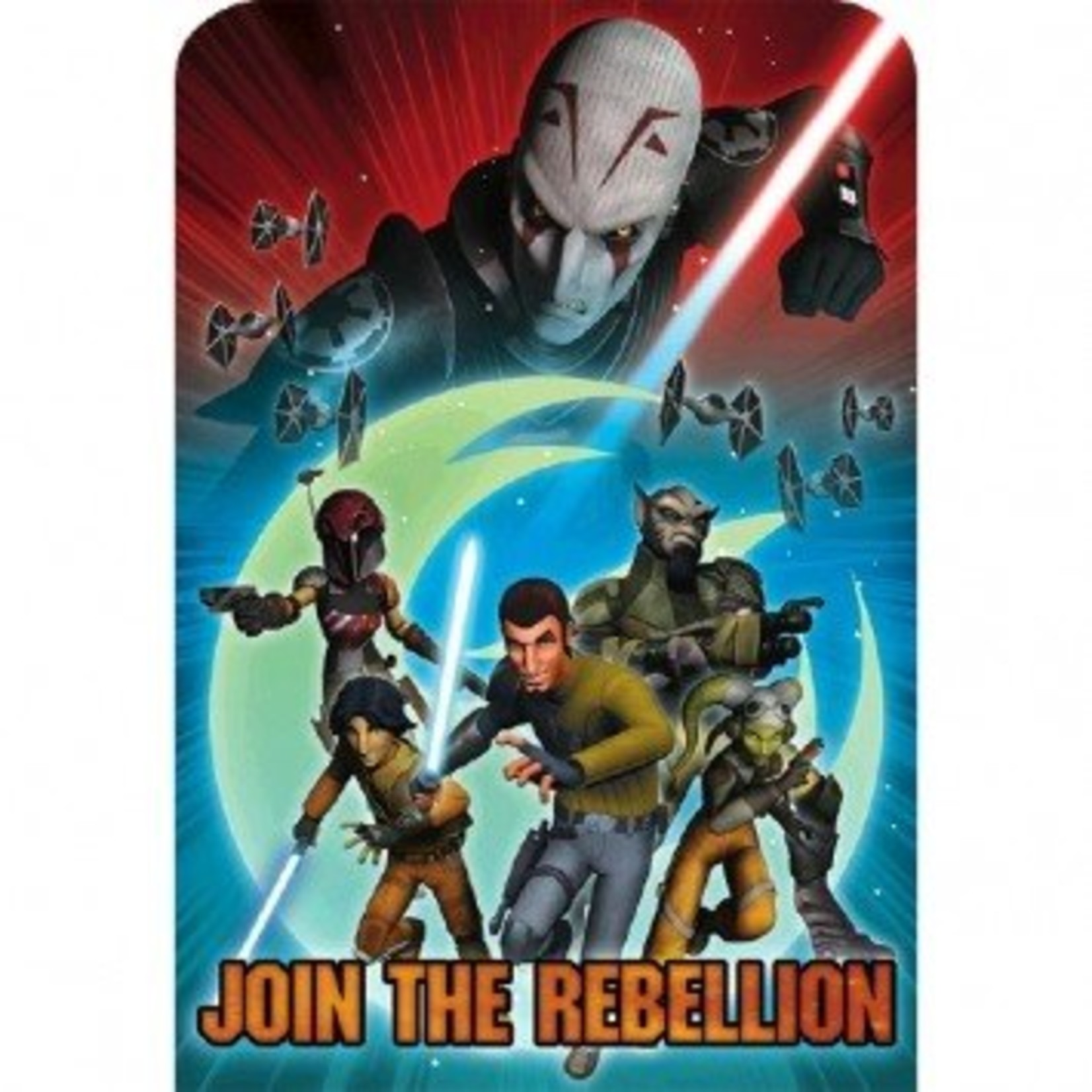 Amscan INVITATIONS STAR WARS REBELS