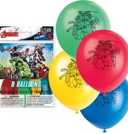 "Unique SAC DE 8 BALLONS EN LATEX 12"" - AVENGERS"