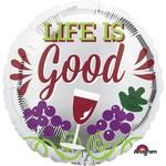 Anagram BALLON MYLAR 18PO - LIFE IS GOOD
