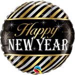 Qualatex BALLON MYLAR 18PO - NEW YEAR LIGNÉ
