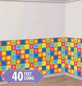 Amscan DÉCORATION MURALE 40' x 4' - DISCO BOOGIE