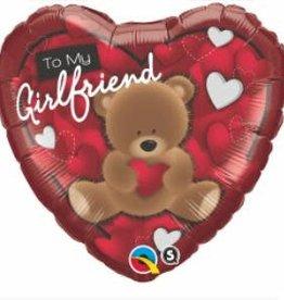Qualatex MYLAR 18'' HEART  - TO MY GIRLFRIEND