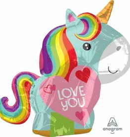 Anagram BALLON MYLAR 18'' - LOVE LICORNE