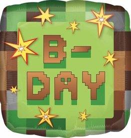 Anagram MYLAR MINI SHAPE - B-DAY MINECRAFT