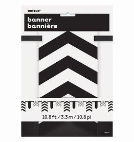 Unique BANNIERE A MOTIFS CHEVRON NOIR & BLANC
