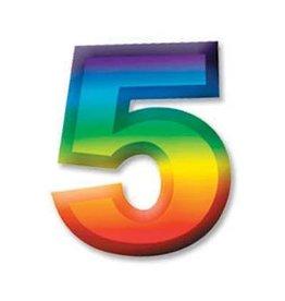 """Beistle Co. CHIFFRE DE PLASTIQUE 11"""" #5"""