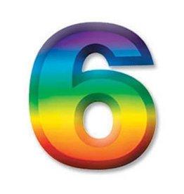 """Beistle Co. CHIFFRE DE PLASTIQUE 11"""" #6"""