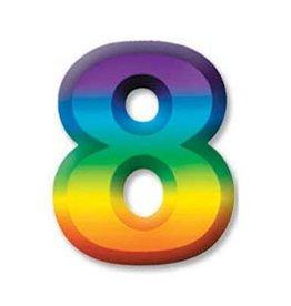 """Beistle Co. CHIFFRE DE PLASTIQUE 11"""" #8"""