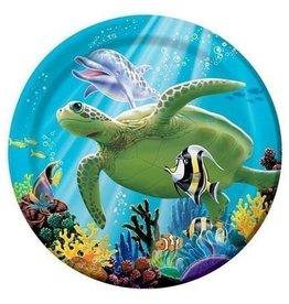 Creative Converting ASSIETTES 7'' SOUS L'OCEAN (8)