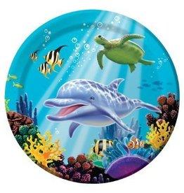 Creative Converting ASSIETTES 9'' SOUS L'OCEAN (8)