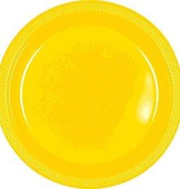 Amscan ASSIETTES EN PLASTIQUE 7PO  -  JAUNE ENSOLEILLE (20)