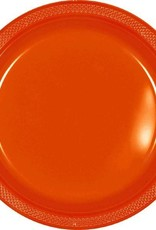 Amscan ASSIETTES EN PLASTIQUE 9PO  -  ORANGE (20)