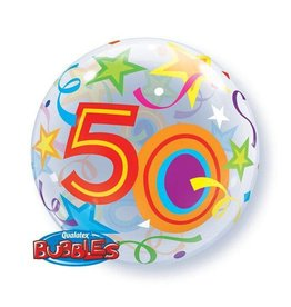 "Qualatex BALLON BUBBLES 22"" 50 ANS"