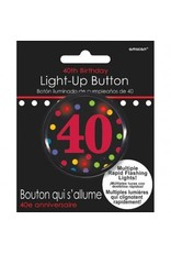 Amscan BOUTON LUMINEUX 40 ANS