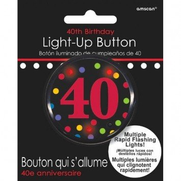 Amscan BOUTON LUMINEUX 40 ANS