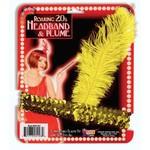 Forum Novelty FLAPPER HEADBAND - GOLD