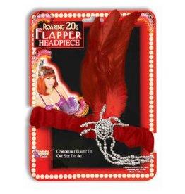 Forum Novelty CHARLESTON FLAPPER HEADPIECE - RED
