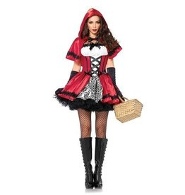 Leg Avenue COSTUME ADULTE CHAPERON ROUGE GOTHIQUE
