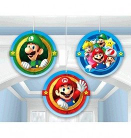 Amscan DÉCORATIONS SUSPENDUES - SUPER MARIO (3)