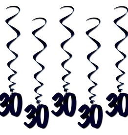Beistle Co. DECORATIONS SUSPENDUES 30 ANS NOIRES (5)