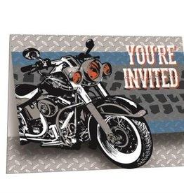 Creative Converting INVITATIONS MOTOS METALLIQUES (8)