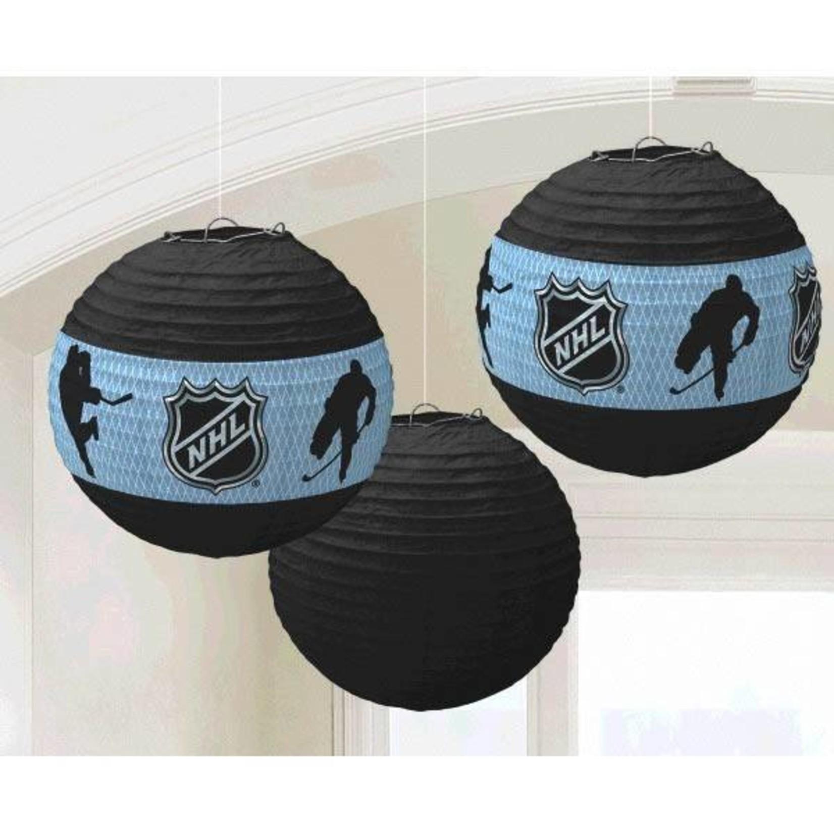 """Amscan LANTERNES DE PAPIER SUSPENDUES 9.5"""" NHL (3)"""
