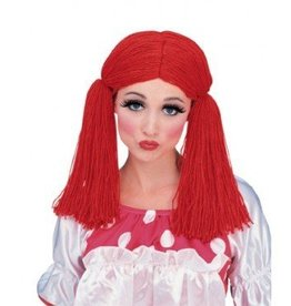 RUBIES WIG CLOTH DOLL RED