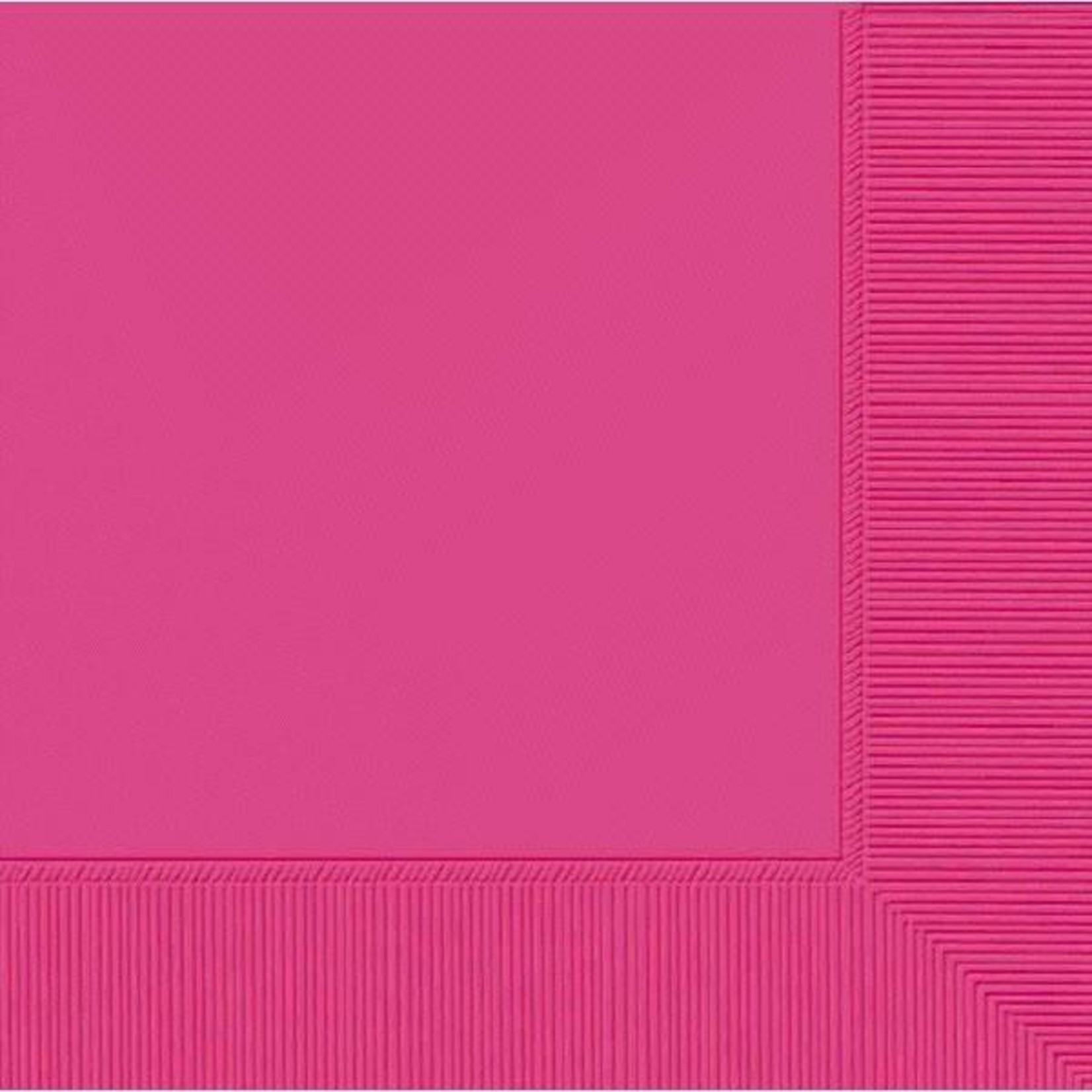 Amscan SERVIETTES COCKTAIL - ROSE ECLATANT (50)