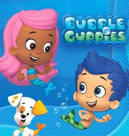 Amscan SERVIETTES COCKTAIL BUBBLE GUPPIES (16)