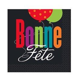 Unique SERVIETTES DE TABLE (16) - BONNE FÊTE