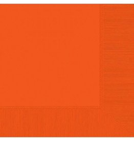 Amscan SERVIETTES DE TABLE - ORANGE (50)