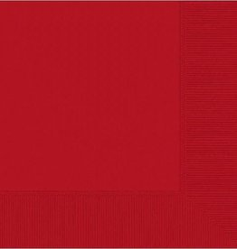 Amscan SERVIETTES DE TABLE - ROUGE (50)