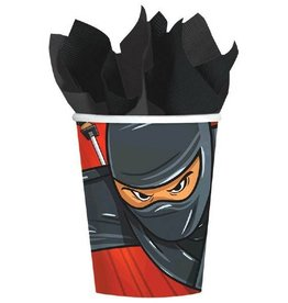 Amscan 9 OZ NINJA GLASS