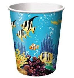 Creative Converting VERRES DE CARTON 9OZ (8) - SOUS L'OCEAN