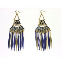 Forum Novelty BOUCLES D'OREILLES EGYPTIENNE - OR & BLEU