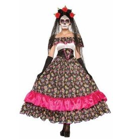 Forum Novelty COSTUME SPANISH WOMAN DAY OF THE DEAD