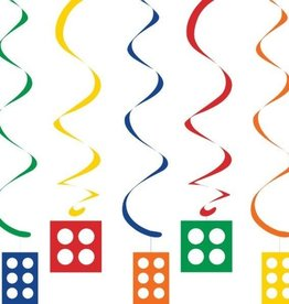 Creative Converting DÉCORATIONS SUSPENDUES (5) - FÊTE EN BLOCS