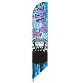 """Forum Novelty DRAPEAU """"THE PARTY'S HERE"""""""