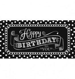 """Amscan BANNIÈRE GÉANTE HAPPY BIRTHDAY (65"""" x 33 1/2"""") - NOIR ET BLANC"""
