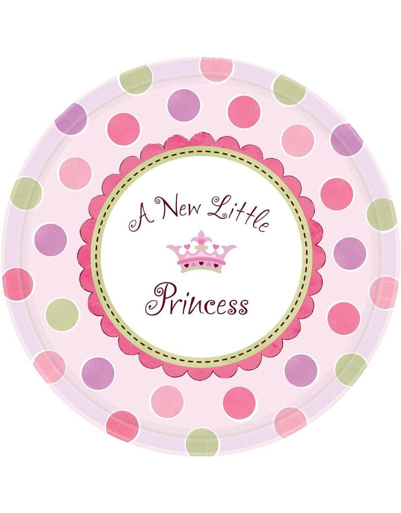 Amscan ASSIETTES 10'' A NEW LITTLE PRINCESS (8)