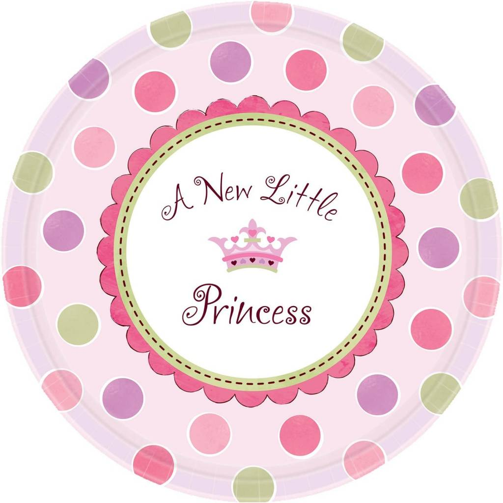 Amscan ASSIETTES 10'' A NEW LITTLE PRINCESS (8)