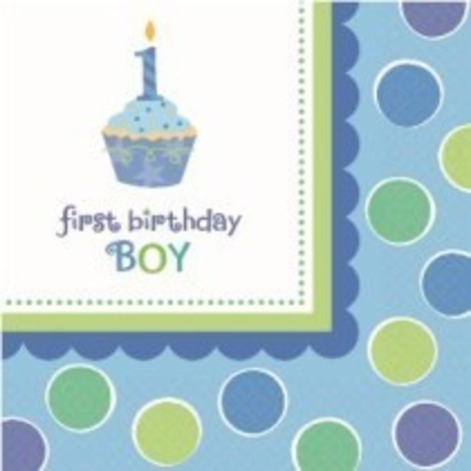 Amscan SERVIETTES COCKTAIL FIRST BIRTHDAY BOY (36)