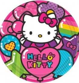 Amscan ASSIETTES 9'' - HELLO KITTY ARC-EN-CIEL (8)