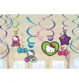 Amscan DÉCORATIONS SPIRALÉES - HELLO KITTY (12)