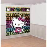 Amscan DECORATION MURALE HELLO KITTY RETRO