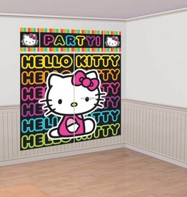 Amscan WALL DECORATION HELLO KITTY RETRO