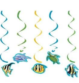 Creative Converting DECORATIONS SUSPENDUES SOUS L'OCEAN (5)