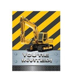 Creative Converting INVITATIONS ZONE DE CONSTRUCTION (8)