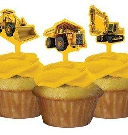 Creative Converting DECORATIONS POUR PETITS GATEAUX ZONE DE CONSTRUCTION (12)
