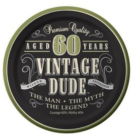 Creative Converting ASSIETTES 7PO (8) - VINTAGE DUDE 60